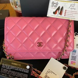 CHANEL PINK 21P WOC IRIDESCENT HARDWARE LIMITED ED